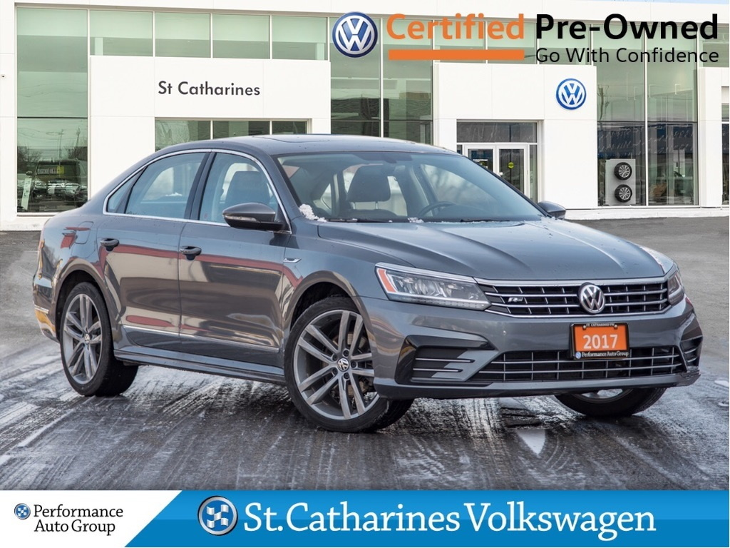 Certified Pre-Owned 2017 Volkswagen Passat HIGHLINE R-LINE NAV CPO LEATHER SUNROOF