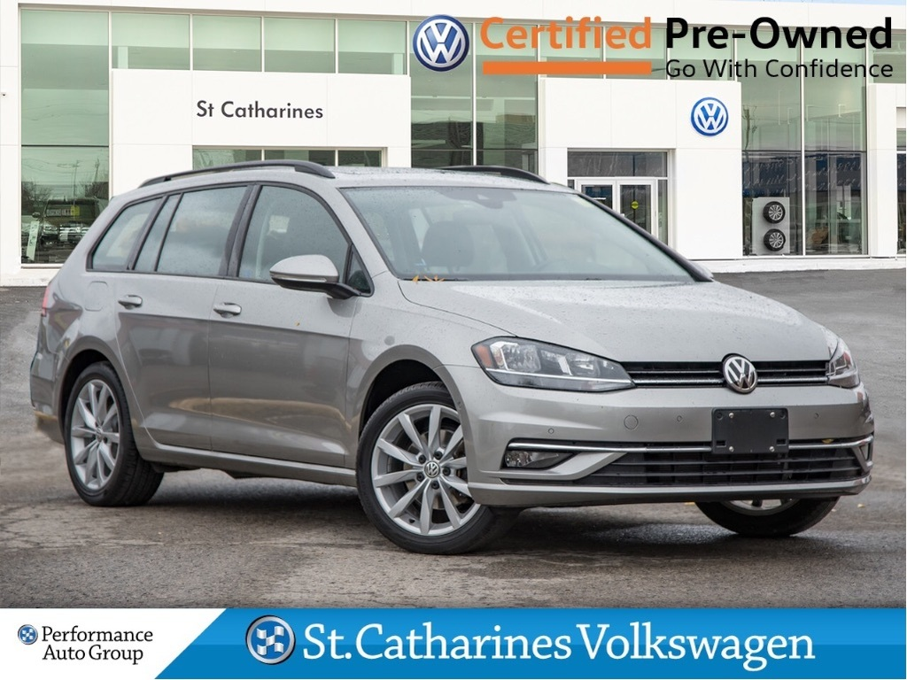 Pre-Owned 2018 Volkswagen Golf SportWagen COMFORTLINE DRIVERS ASSISTANCE CPO SUNROOF